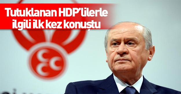 Devlet Bahçeli HDP'lilerin yargılanmasından memnun