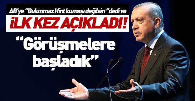 Erdoğan: Alternatiflerle görüşmelere başladık