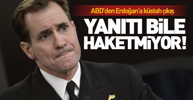 Erdoğan'ın o sözlerine ABD'den yanıt