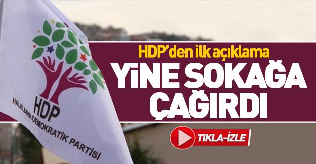 HDP'den operasyon sonrası ilk açıklama!