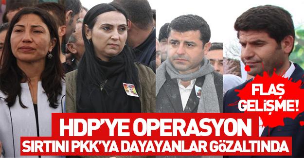İfade vermeye gitmeyen HDP'liler gözaltında
