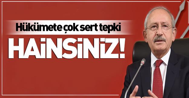 Kılıçdaroğlu yine Hükümete yüklendi!