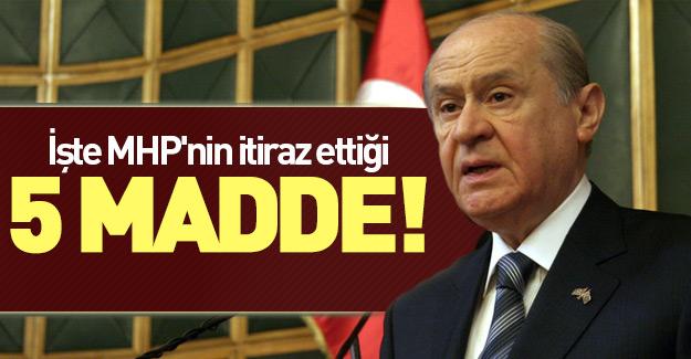 MHP'den Ak Parti'nin başkanlık sistemine 5 maddelik itiraz!