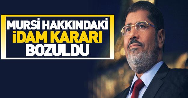 Mursi hakkında idam kararı bozuldu