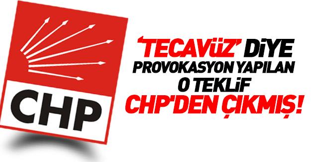 O düzenlemeyi ilk CHP gündeme getirdi