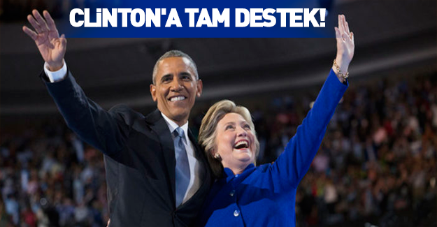 Obama'dan Clinton'a tam destek!