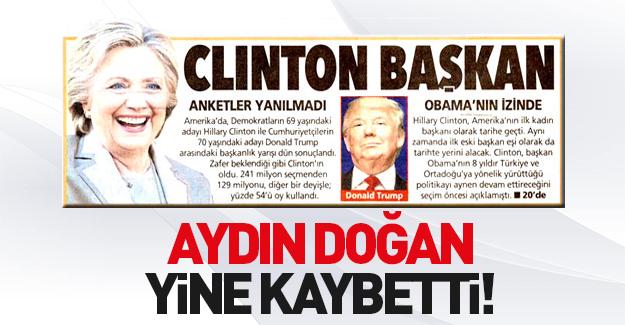 Posta gazetesi Hillary Clinton'u başkan yaptı