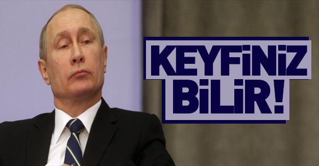 Putin Batı'ya resti çekti!