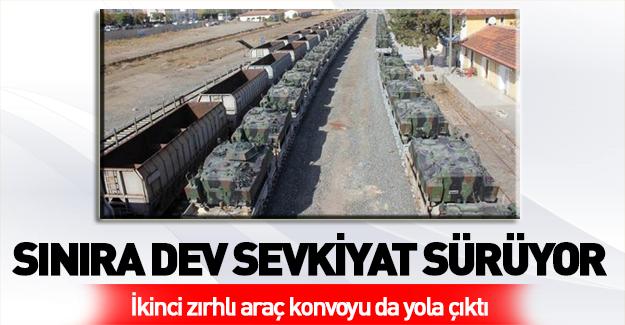 Sınıra 2. sevkiyat! Tanklar yola çıktı!