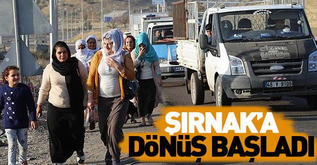 Şırnak'a dönüş başladı