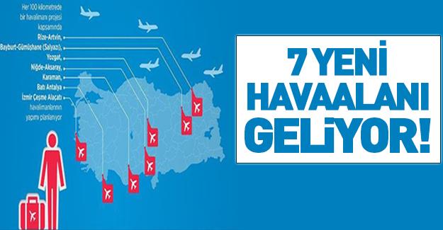 Yedi havaalanı daha geliyor