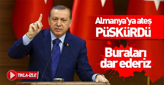 Erdoğan'dan Almanya'ya sert tepki!