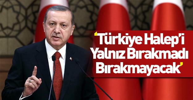 Erdoğan'dan Halep açıklamaları