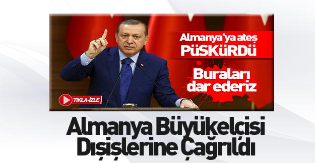Erdoğan'ın tepkisi sonrası Almanya'ya şok...