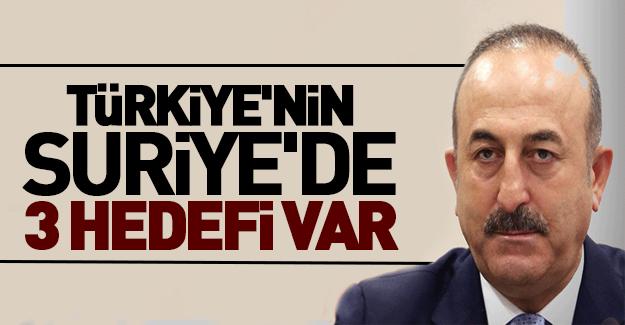 İşte Türkiye'nin Suriye'deki 3 hedefi!
