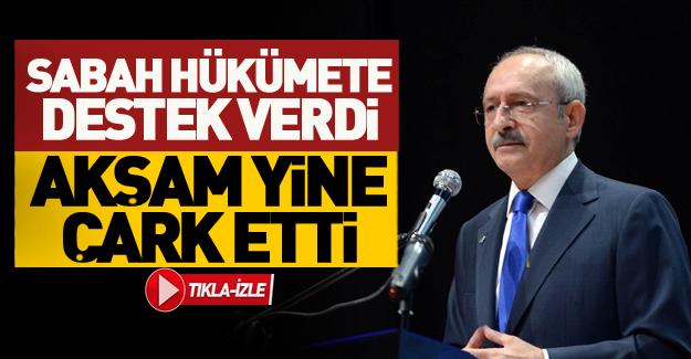 Kılıçdaroğlu sabah farklı, akşam farklı konuştu