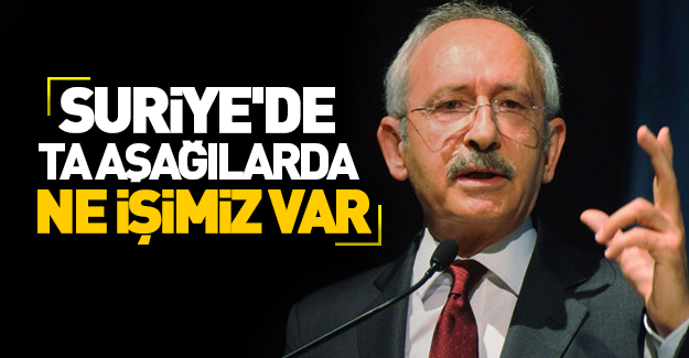 Kılıçdaroğlu: Türkiye bataklığın içinde!