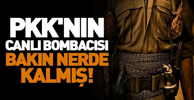 PKK'nın canlı bombacısı bakın nerde kalmış!
