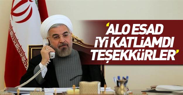 Ruhani Esad'ın 'Halep zaferini' kutladı