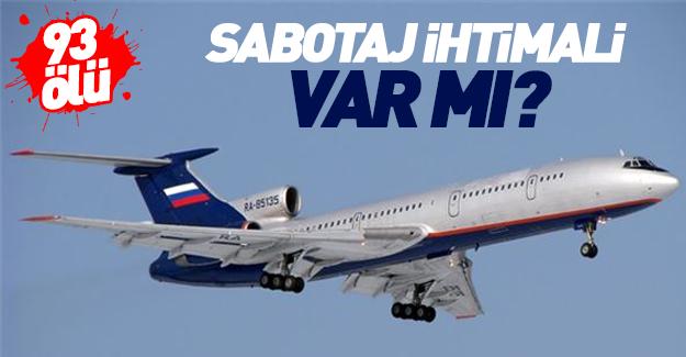 Rus uçağı hakkında sabotaj iddiası