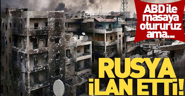 Rusya'dan Halep kararı! Masaya otururuz ama...
