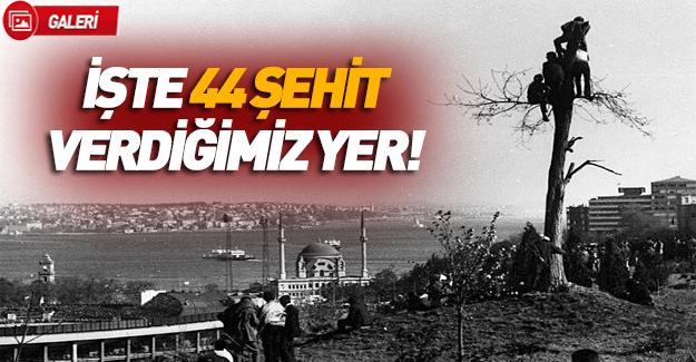 'Şehitler Tepesi'nin tarihi fotoğrafları!