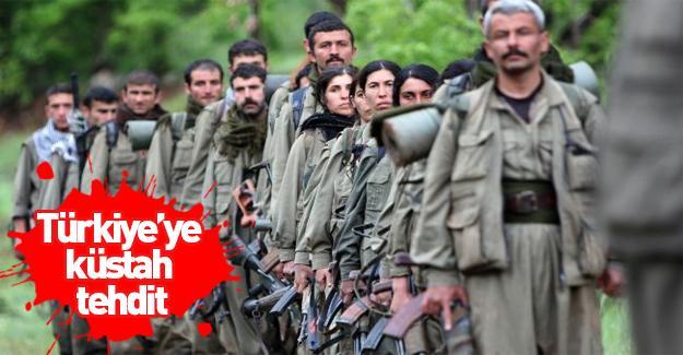 Terör örgütünden Türkiye'ye küstah tehdit!