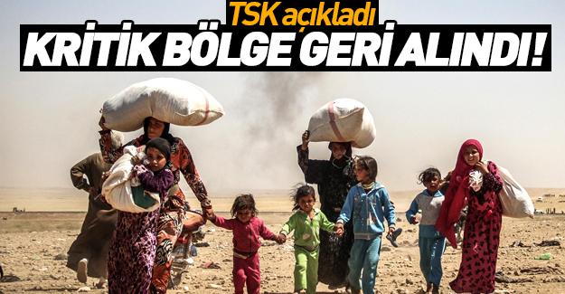 TSK açıkladı: O bölgede kontrol sağlandı