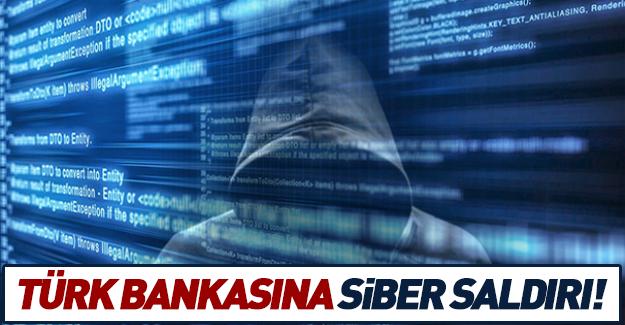 Türk bankasına siber saldırı!
