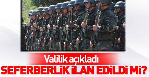 Valilik'ten 'Ankara'da seferberlik' açıklaması
