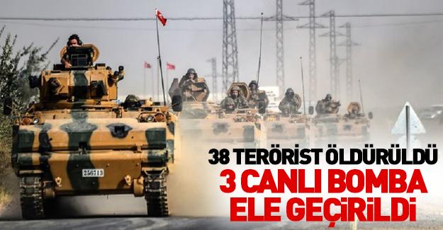 Biri DAEŞ emiri 38 terörist öldürüldü