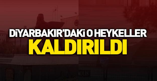 Diyarbakır'daki o heykeller kaldırıldı
