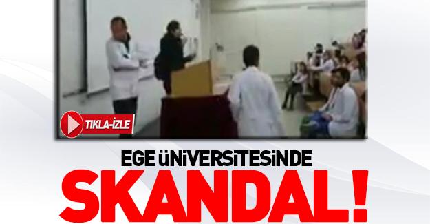 Ege Üniversitesinde skandal!