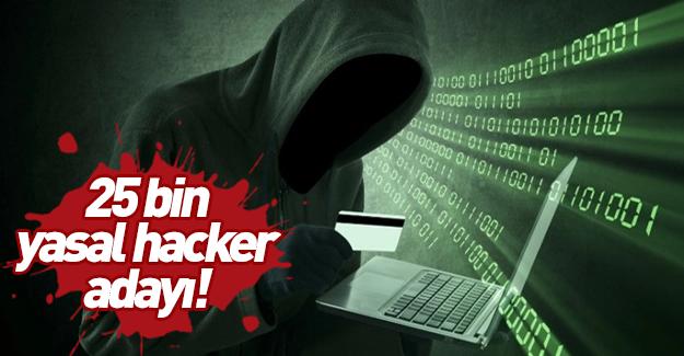 Görev ele geçirmek: 25 bin yasal hacker adayı…