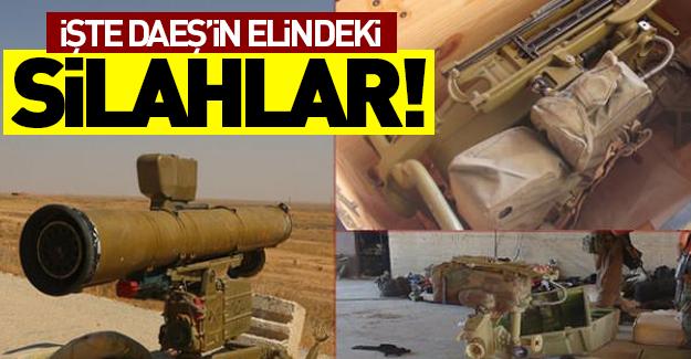 İşte Terör örgütü IŞİD'in elindeki silahlar