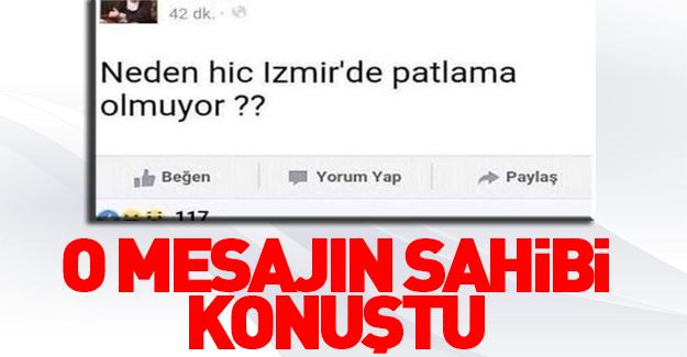 Neden İzmir'de patlama olmuyor twitinin sahibi konuştu