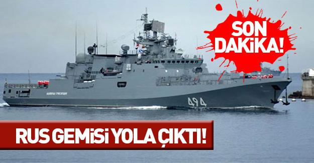 Bir Rus gemisi daha Suriye'ye gidiyor