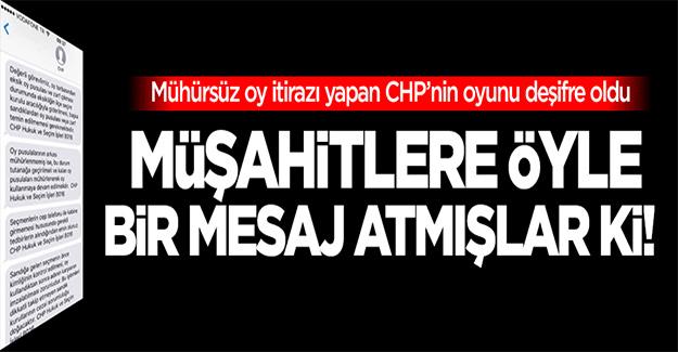 CHP'den müşahitlere öyle bir mesaj atılmış ki!