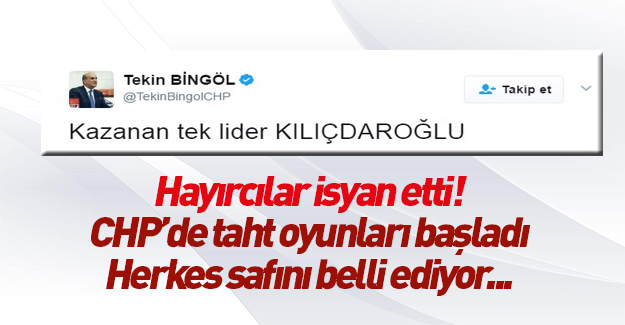 CHP'li Tekin Bingöl Kılıçdaroğlu referandumun galibi ilan etti!