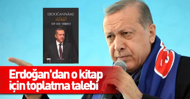 Erdoğan'dan o kitap için toplatma talebi