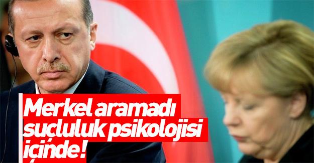Erdoğan: Merkel suçluluk psikolojisi içinde