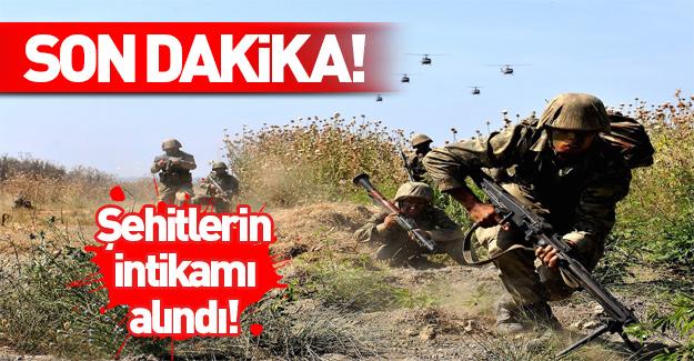Hakkari ve Şırnak'ta şehit askerlerin intikamı alındı!