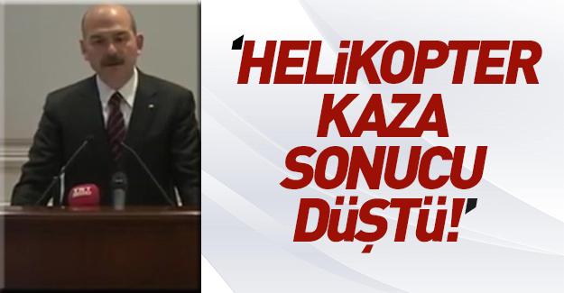 İçişleri Bakanı'ndan Tunceli'deki kaza hakkında açıklama