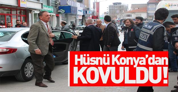 Konya'da CHP'li Hüsnü Bozkurt'a tepki