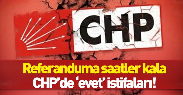 Referanduma saatler kala CHP'de toplu istifa depremi