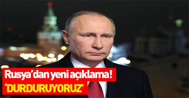 Rusya'dan ABD kararı: Durduruyoruz!