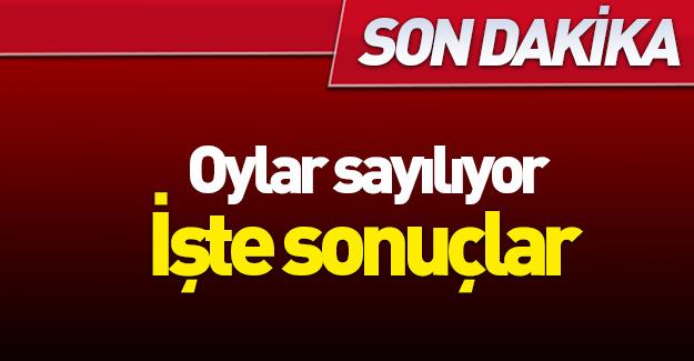 Sandıklar açılıyor...Türkiye geneli sonuçlar