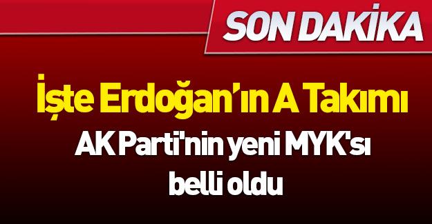 AK Parti'nin yeni MYK'sı belli oldu