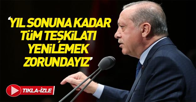 Cumhurbaşkanı Erdoğan MYKY'nin ardından konuştu