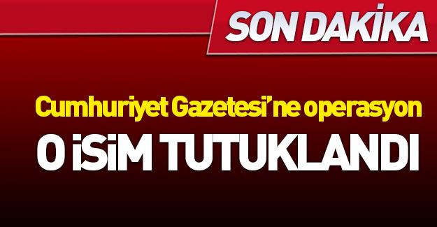 Cumhuriyet Gazetesi'nde tutuklama!